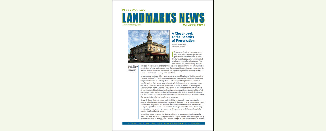 LANDMARKS NEWS Winter 2021
